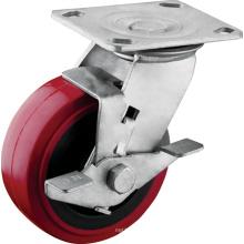 Heavy Duty Tread Brake Polyurethane Wheel Casters