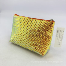 Latest Design Yellow Diamond Cosmetic Beauty Case For Women Makeup Brushes Bag Holographic Laser Cosmetic Bag