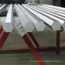 Barre hexagonale en aluminium 6061 en stock
