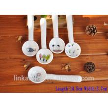 Haonai New design Funny and Cute mini ceramic spoon