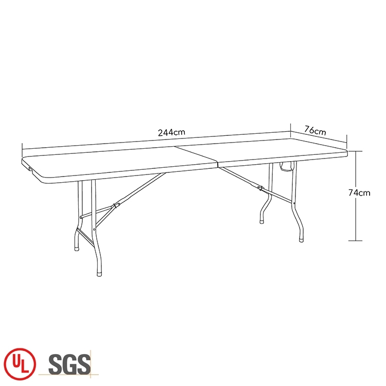 8FT Rectangle Plastic Folding Tablejpg_