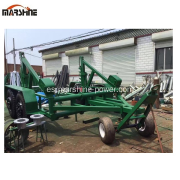 Reel Carrier Trailer Used Cable Reel Remolque