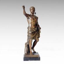 Soldaten Figur Statue Römische König Bronze Skulptur TPE-058