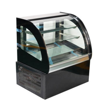 900mm Desktop Curved Cake Showcase Kaca Lemari Pajangan