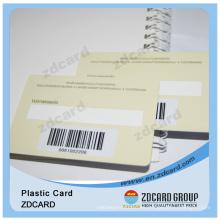 PVC 1d tarjeta de código de barras con firma de escritura de panel