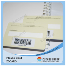 PVC 1d Barcode Card with Signature Writing Panel
