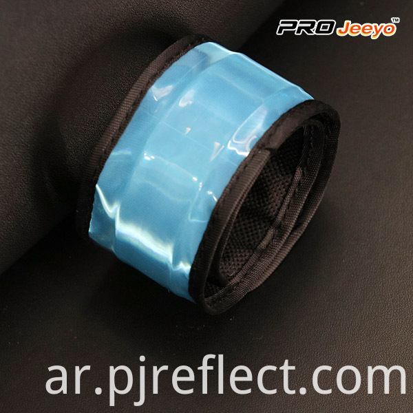 Reflective Safety Fluo Blue PVC Slap BraceletWB-JG003