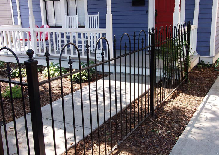 wrought iron stair fence panel