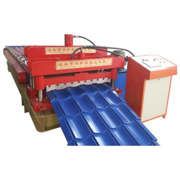 Máquina formadora de rolos de telha metálica envidraçada para manufaturar