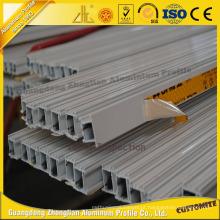 Perfil anodizado 6063t5 da liga de alumínio do revestimento do pó