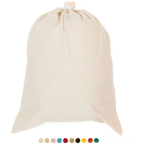 Wholesale custom eco-friendly heavy duty Printing Foldable Washing cotton canvas biodegradable laundry bag