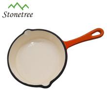 Poêle à frire en fonte de haute qualité avec poignée, poêle en fonte, batterie de cuisine en fonte