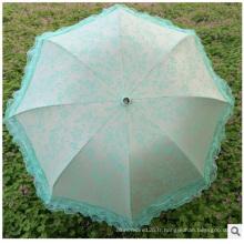 Parapluies de Sun de Anti-UV de Promotionla, parapluie en soie bon marché en gros