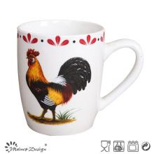 Ceramic Cheap Chicken Design Porcelain Mug