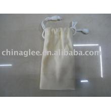 bolsa de cordão de veludo