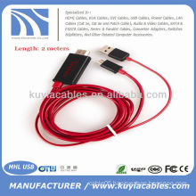 2M MHL Micro USB HDMI Cable HDTV for Samsung Galaxy S3 i9300 Note 2