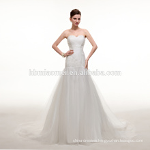 2016 new fashion korea design deep v-neck ball gown wedding dress Custom made plus size beautiful pakistani wedding dress