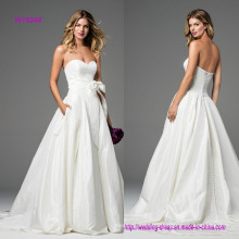 Strapless A-Line Wedding Dress with Bow