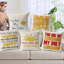 Custom Cotton Linen Leaning Cushion Throw Pillow Covers Pillowslip Case