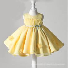 Желтый Органзы Цветок Девочки Платья