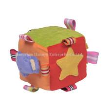 Factory Supply Stuffed Plush Rattle Block Toy