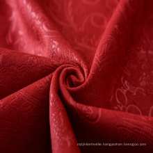 Red Embossed Knitted Fabric Back Side with Tc