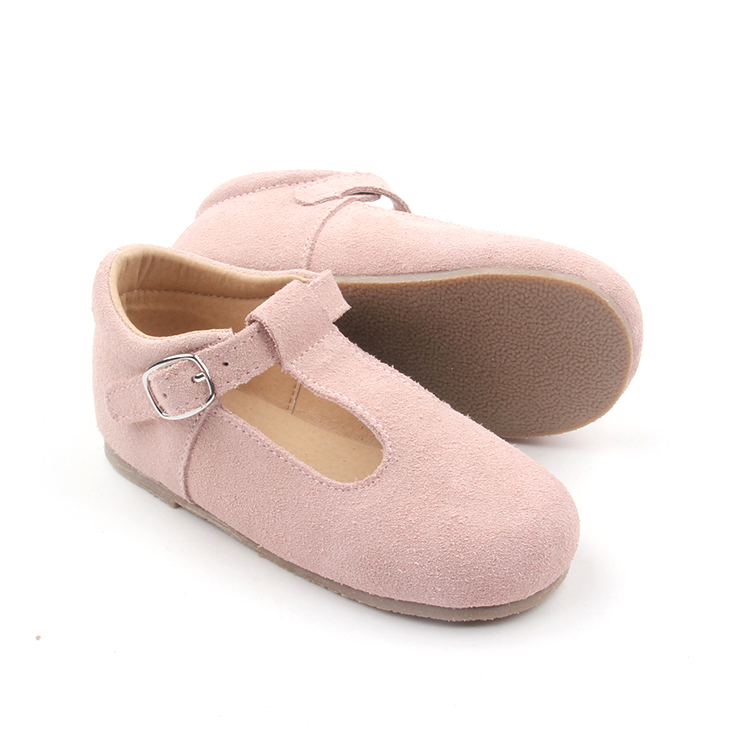Pink Children Leather T bar Dress Shoes