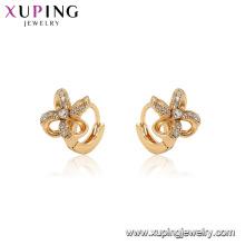 96904 xuping mode hoop moulin cubique pierre boucle d'oreille pour les femmes