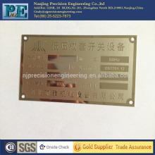 Personalizadas láser de corte placas de latón puerta nombre