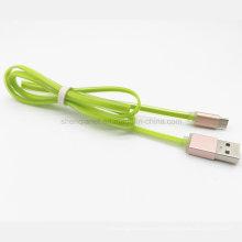 Cable colorido de alta calidad al por mayor del diseño de la jalea del USB para Samaung / Smartphone