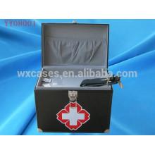 caixa de kit de primeiros socorros canto quadrado de alumínio com 2 cores