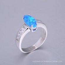 Nuevo anillo azul del ópalo del fuego del diseño 2018 con la mejor calidad y el precio bajo