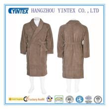 Solid Cotton Terry Robes Bathrobe for Men