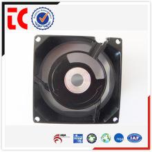 Carcasa de ventilador de aluminio negro de precisión de las ventas al por mayor hecha a la medida que funde para el accesorio mecánico del dispositivo