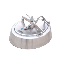 Oval manhole stainless Steel inward oppening easy operated access port tank used bell-shaped Manway