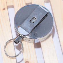 Detalle de fábrica de la muestra retractable ronda metal yoyo titular