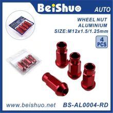 4PCS Roda Lug Nut com alumínio Open End