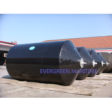 Tipo de cojín de alta calidad Defensas marinas rellenas de espuma EVA con fuertes capas de refuerzo Muelles flotantes con cadena y red de neumáticos