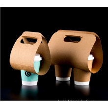 Environmental Multi-Specification Kraft Paper Holder/Disposable Coffee Paper Tray for Take-out