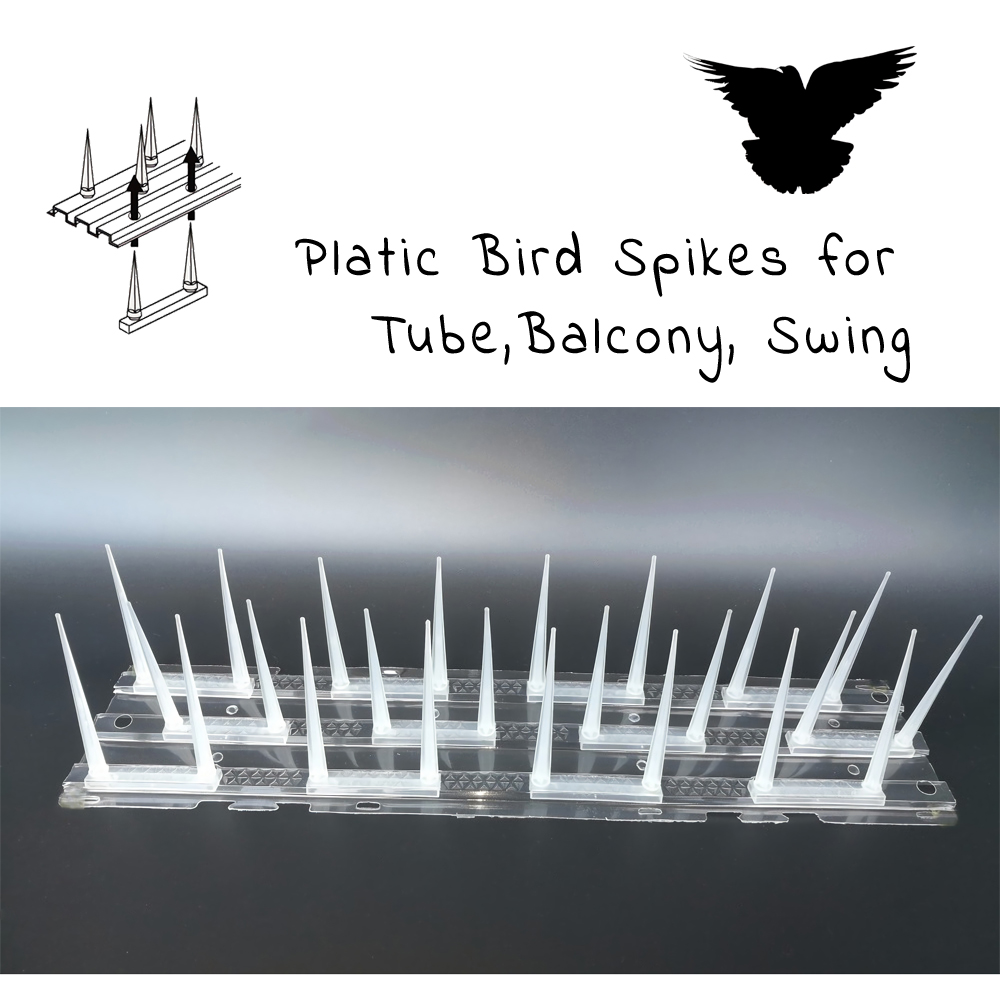 Plastic Bird Spikes For Tube Balcony Swing