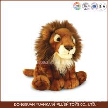 Mini Stuffed Lion Toy com cabeça grande