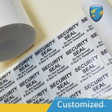 Etiqueta adhesiva de la etiqueta engomada de la etiqueta engomada de la etiqueta de seguridad del CE y de la norma ISO9001
