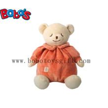 "10""Orange Stuffed Infant Baby Kids Toy Sleeping Bear Animals"