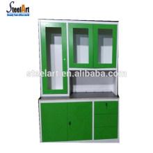 Simple design metal storage food kitchen cupboard