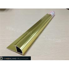 Aluminium Radius Tile Trim in Anodised Karat Gold Color