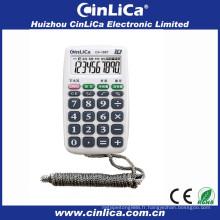 Mini calculatrices de poche portables pour cadeau promotionnel avec collier