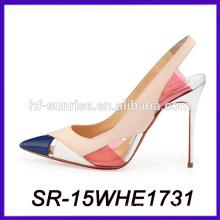 El alto talón barato colorido calza los zapatos atractivos del alto talón de los zapatos del alto talón del coreano