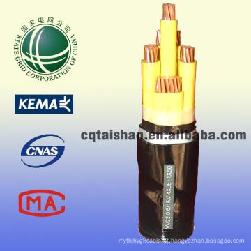 Grade do estado 0.6 / 1kv PVC do PVC isolou o cabo de alimentação da bainha do cabo a manufatura do cabo da baixa tensão na porcelana