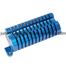 Disipador de calor de color azul para la máquina