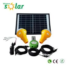 Éclairage solaire maison avec 3 led ampoules et 1 panneau solaire module solaire alimenté d'éclairage